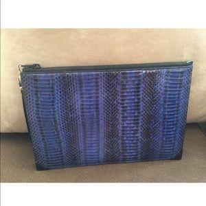 Blue Black snakeskin Alexander Wang clutch